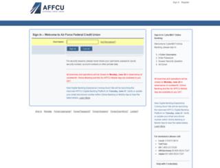 hb.airforcefcu.com screenshot