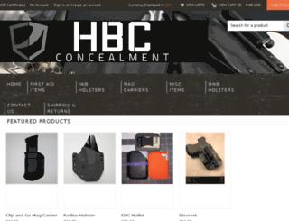 hbcconcealment.mybigcommerce.com screenshot
