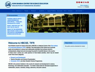 hbcse.tifr.res.in screenshot