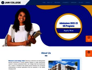 hbl.jaincollege.ac.in screenshot