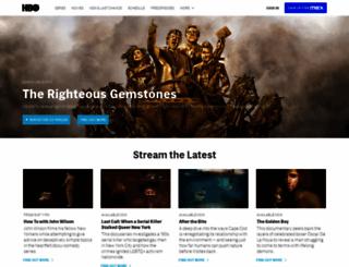 hbo.com screenshot