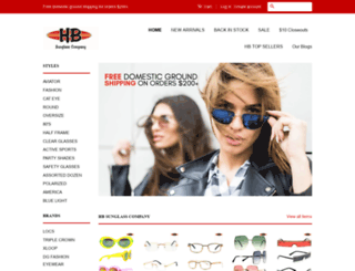 hbsunglasscompany.com screenshot