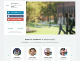 hbtikanpur.almaconnect.com screenshot
