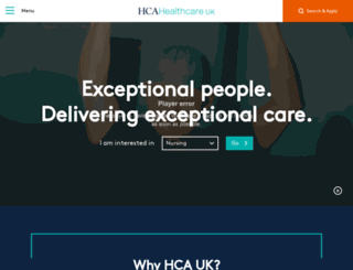 hcacareers.co.uk screenshot