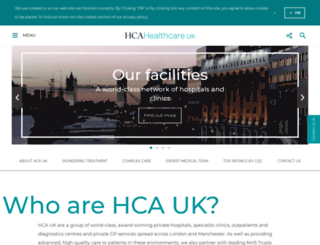 hcahospitals.co.uk screenshot