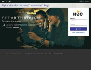 hccs.mylabsplus.com screenshot