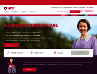 hcf.com.au screenshot