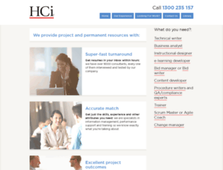 hci.com.au screenshot