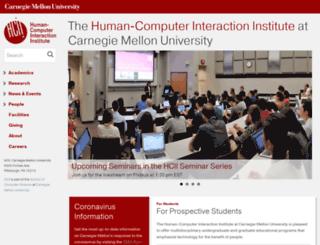 hcii.cmu.edu screenshot