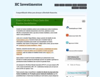hcinvestimentos.wordpress.com screenshot