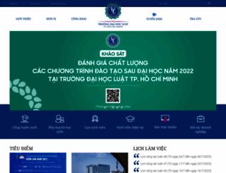hcmulaw.edu.vn screenshot