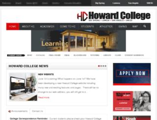 hconline.howardcollege.edu screenshot