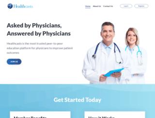 hcp.healthcasts.com screenshot