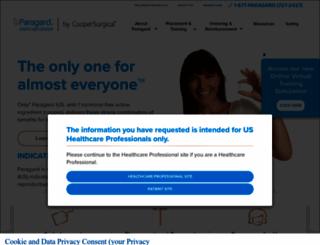 hcp.paragard.com screenshot