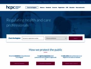 hcpc-uk.org screenshot