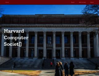 hcs.harvard.edu screenshot