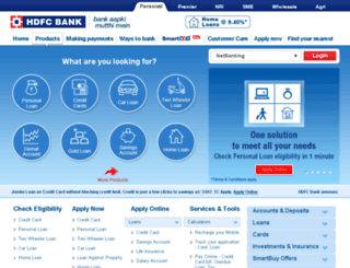 hdfcbank.com screenshot