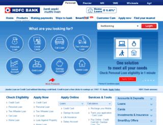 hdfcbank.com screenshot