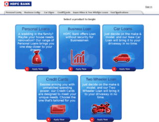 hdfcbanksmartapply.com screenshot