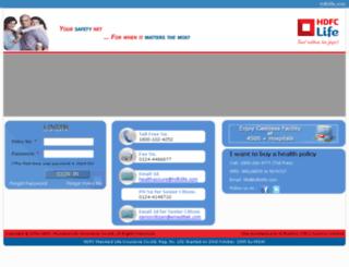 hdfclifehealth.com screenshot