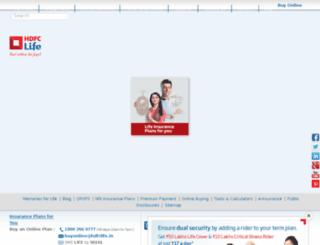 hdfcstandardlife.com screenshot