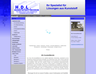 hdl-kunststofftechnik.de screenshot