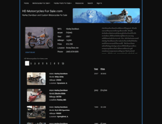 hdmotorcyclesforsale.com screenshot