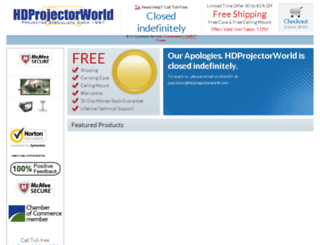 hdprojectorworld.com screenshot