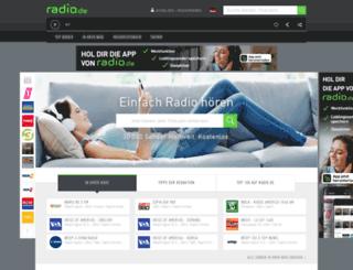 hdroradio.radio.de screenshot