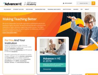 heacademy.ac.uk screenshot