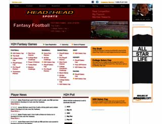 head2head.com screenshot