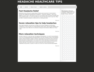 headache.tips.healthcare screenshot