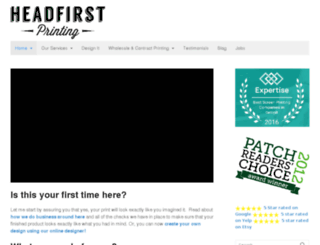headfirstprinting.com screenshot