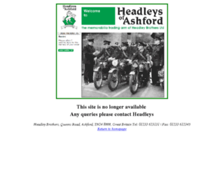 headleysofashford.co.uk screenshot