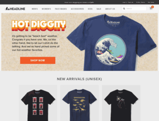 headlineshirts.net screenshot