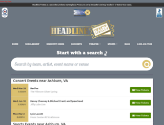 headlinetickets.com screenshot