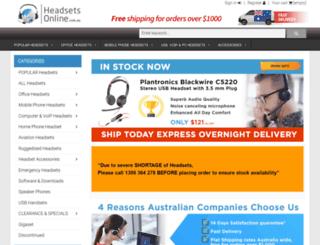 headsetsonline.com.au screenshot