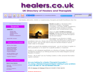 healers.co.uk screenshot