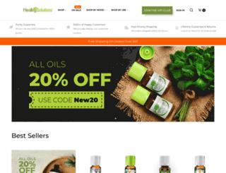 healingsolutions.com screenshot