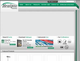 healpro.mediacns.com screenshot
