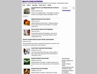 health-food-nutrition.blogspot.com screenshot