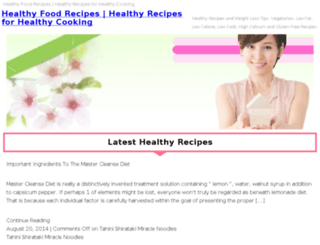 health-recipes.org screenshot