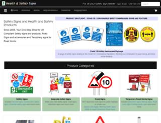 health-safety-signs.uk.com screenshot