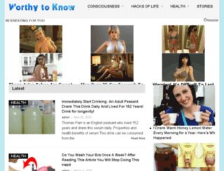 health-wellness.worthytoknow.com screenshot