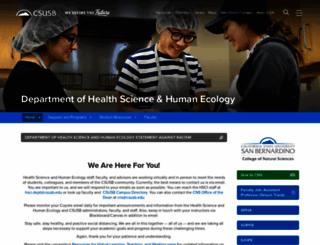 health.csusb.edu screenshot