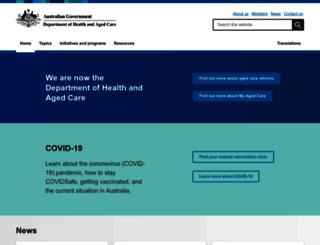 health.gov.au screenshot