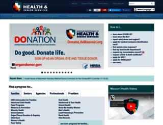 health.mo.gov screenshot
