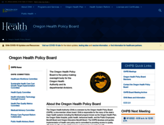 health.oregon.gov screenshot