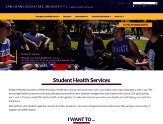 health.sfsu.edu screenshot