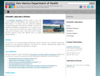 health.state.nm.us screenshot